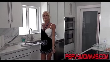 Kinky housewife gives head while husband in the same room