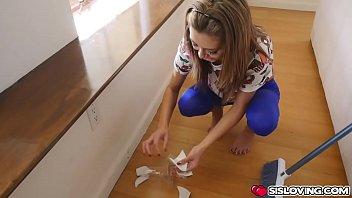Step bro drills Kara Fauxs doggystyle