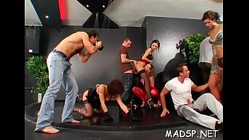 Immoral group gets into a joyous sex party with creamy finish thumbnail