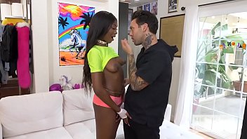 Sexy young ebony teen Tori Montana gets fucked dirty and rough