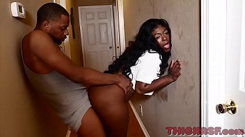 thick ass ebony skinned Ambitious Booty takes all of Don Prince big black cock on Thickasf.com