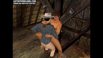 Hot 3D cartoon hunk getting fucked in the barn