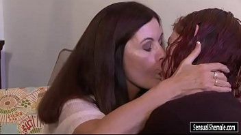Mature tranny pornstars - Redhead shemale chelsea poe oral sex with busty mature