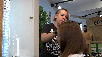 Euro slut public fucked at hairdresser thumbnail