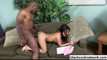Asian girl fucks big dick nigger Mandingo hammers asian slut and cums