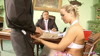 Old Teacher Seduce Hot College girl to Fuck at Boarding College 21 min