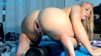 Huge Dildo in Ass of a young college Girl