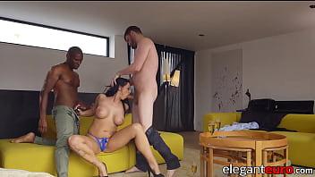 Elegant semen demon analled in big dick threesome