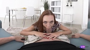 TmwVRnet.com - Morgan Rodriguez - Cock Riding and Boobjob From a Hot Redhead