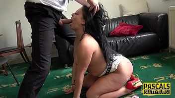 Real chubby submissive deep throated