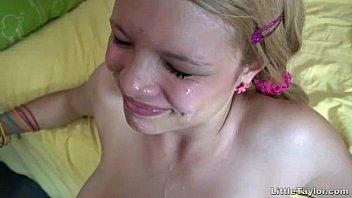 Blonde Teen Getting A Twat Pounding Plus A Facial
