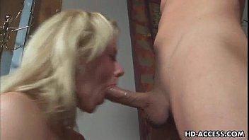 Blonde pornstar gets face full of deepthroat spunk Preview