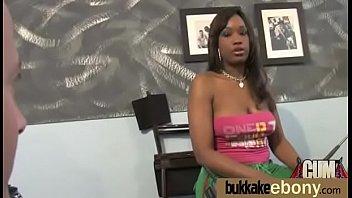 Ebony whore rides cocks and swallows sperm 9