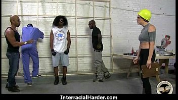 Hot Cougar cums hard on young black cock 28