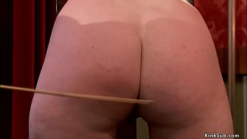 Service slave are caned and spanked bdsm