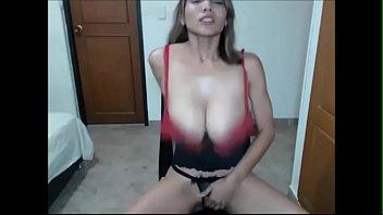 Big Boob Teen OhMiBod Shaking Orgasm