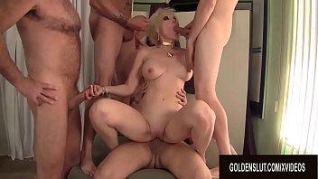 Pristine Granny Dalny Marga Gets Passed Around Between Five Men