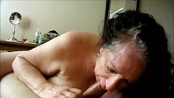 Granny online sex - Brunette granny devouring a cock she found online