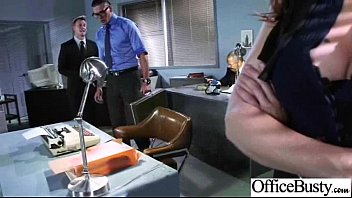 (julia ann) Busty Slut Girl Banged Hardcore In Office clip-20