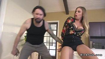 Busty big ass neighbor anal fucked in bondage