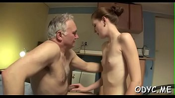 Stunning old and youthful action with hot babe seducing daddy