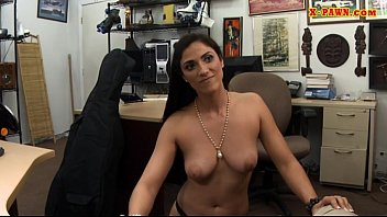 Perky tits woman in heels pussy slammed at the pawnshop