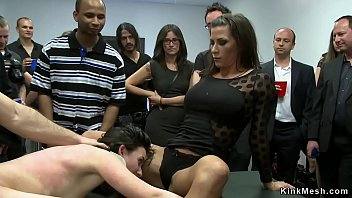 Slut anal banged in public gallery