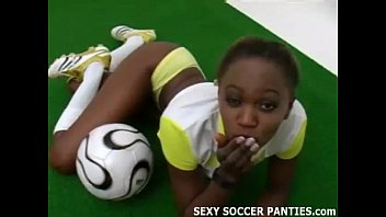 Amateur girls footbal Sporty and exotic ebony island girl teasing
