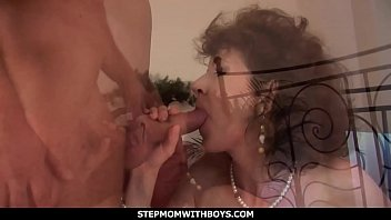 StepmomWithBoys - Hot Redhead Mom In Sexy Undies Fucks Stepson