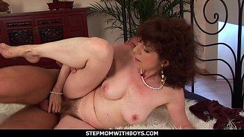 StepmomWithBoys - Hot Redhead Mom In Sexy Undies Fucks Stepson - 69VClub.Com