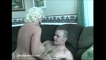 Riding while getting tits squeezed