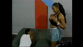 Lustful Ebony Bitch With Huge Jugs Has Sex With A Young Guy In A Pose 69