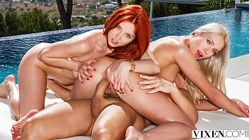 Redhead vixen free movies - Vixen perfect redhead is seduced on vacation by a couple