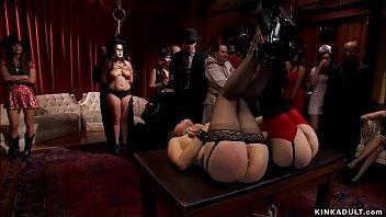 Hot butts slaves fucking at bdsm party