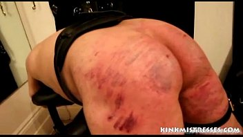 Beating a porn addiciton - Brutal caning on the bench - kinkmistresses.com