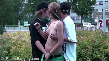 Top10 boobs - Cute young teen girl alexis crystal public street sex gang bang orgy threesome