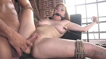 Natural busty slave rough banged