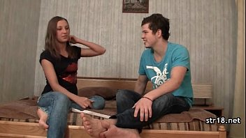 Dude destroying 18-years old horny girl's pussy