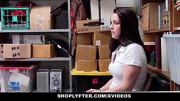 Teen detection - Shoplyfter - cute teen caught stealing blows lp officer