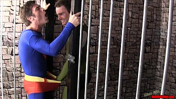 Submitted gay pics - Superman submits 2 cbt handjob lycra spandex