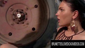 Hardcore sex on the farm - Brunettes love dick - honey demon enjoys anal sex while out on the farm