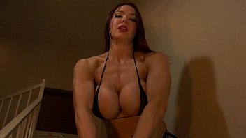 Breast implant deflation - Muscle babe humiliates your scrawny body
