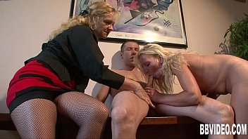 Image: Blonde german milf gets nailed in threesome