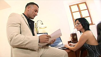 Big ass brunette glasses - Smokin brunette in glasses and fishnets renata black fucks and sucks her boss in the office