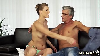 Redhead learns anal with daddy Sex with her boycrony´s father after