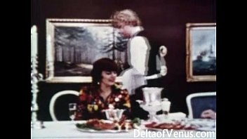 Vintage Porn 1960s - Hairy Mature Brunette - Table For Three