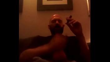 Gay pipe smoker Cigar and falcon pipe wank