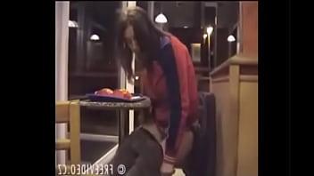 Girl Pees on Fast Food Floor