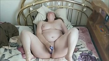 Fatty In Glasses VIbrating Her Pussy For Bf's Pleasure
