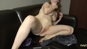 Chubby Amateur With Saggy Tits Fingers Herself